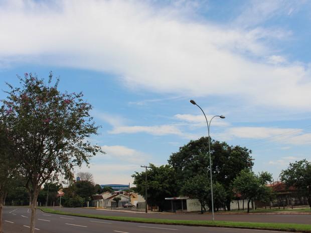 Céu de Campo Grande na tarde desta quinta-feira (31) (Foto: Adriel Mattos/G1 MS)
