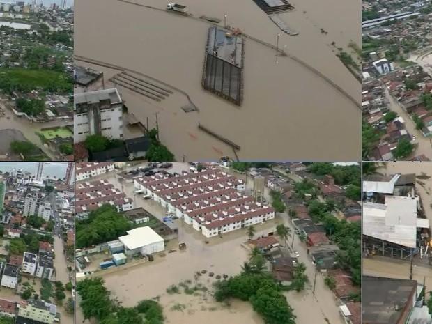 chuva em Olinda (Foto: GloboCop/TVGlobo)