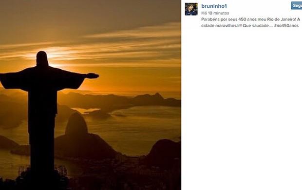 Bruninho homenagem ao Rio no Instagram