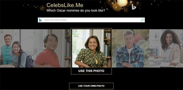Site compara a sua foto com atores e atrizes que concorrem ao Oscar (Foto: Reprodução)
