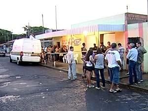 Ex-agente penitenciário é morto dentro de bar em Uberaba (Foto: Reprodução/TV Integração)