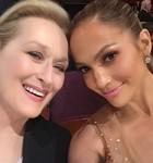 Jennifer Lopez tira selfie com Meryl Streep (Twitter/Jennifer Lopez @jlo)