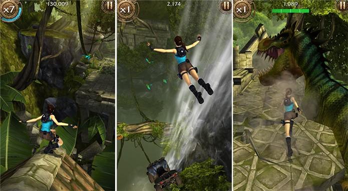 Lara Croft: Relic Run é um runner da Tomb Raider para Windows Phone (Foto: Divulgação/Windows Phone Store)