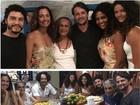 Camila Pitanga aparece sem make em foto com Rodrigo Santoro cabeludo