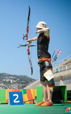 Atletas em ação no Sambódromo do Rio de Janeiro (Foto: World Archery)