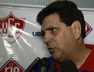 Luiz Eduardo técnico Uberaba Sport (Foto: Reprodução/TV Integração)