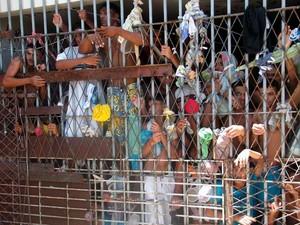Núcleo de Custódia em Natal está com o dobro da capacidade de presos prevista (Foto: Ricardo Araújo/G1)