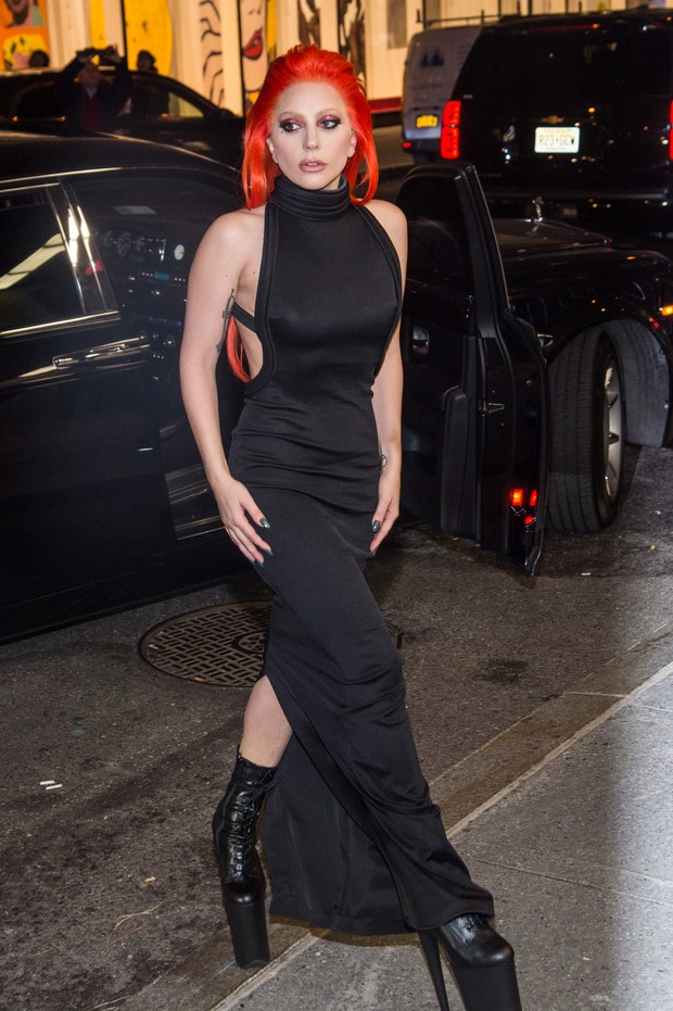 Lady Gaga em festa em Nova York, nos Estados Unidos (Foto: Mark Sagliocco/ Getty Images)