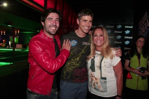 Reynaldo Gianecchini, Susana Vieira e Sandro Pedroso (Foto: Isac Luz / EGO )
