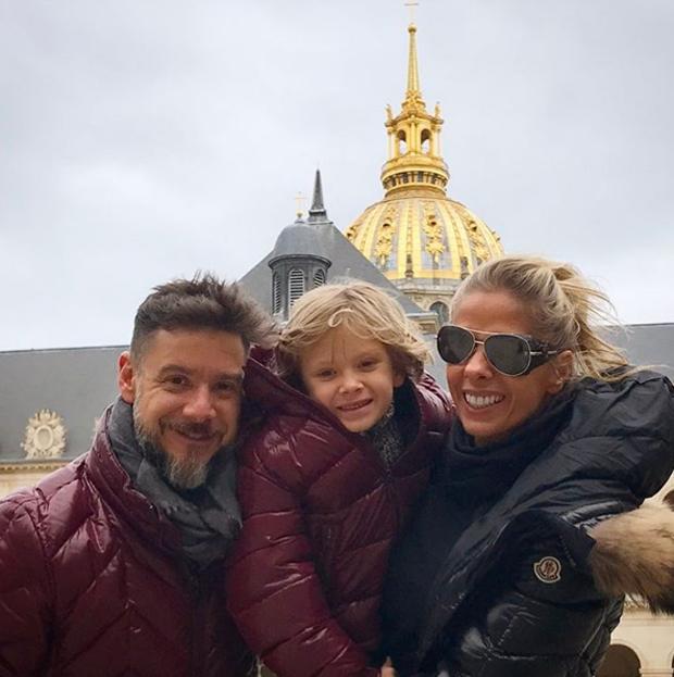 Alexandre Iódice, Adriane Galisteu e Vittorio (Foto: Reprodução/Instagram)
