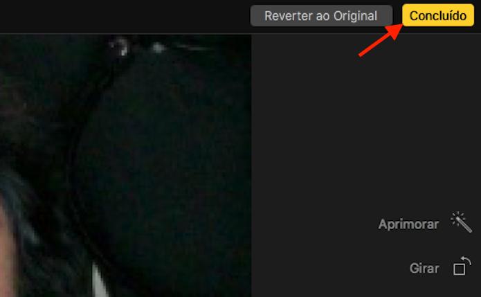 Salvando a imagem retocada com o redutor de espinhas do aplicativo Fotos do Mac (Foto: Reprodução/Marvin Costa)