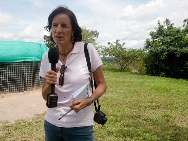 Foto de arquivo sem data mostra a jornalista espanhola Salud Hernandez, correspondente do El Mundo  (Foto: Alejandra Vega HO/AFP)