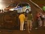 Capotamento deixa mulher ferida no viaduto da Avenida T-63, em Goiânia