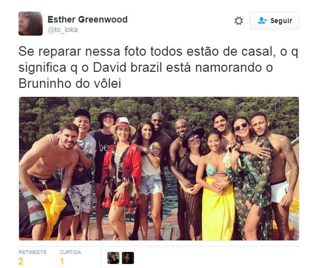 Meme de Bruninho e David Brazil 'de casal' em foto (Foto: Reprodução)