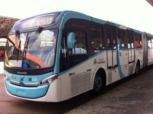 Ônibus articulado começa a funcionar no transporte público de Fortaleza nesta quinta-feira (15) (Foto: Prefeitura de Fortaleza/ Divulgação)