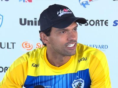 Vitor, goleiro do Londrina (Foto: Reprodução/RPC)