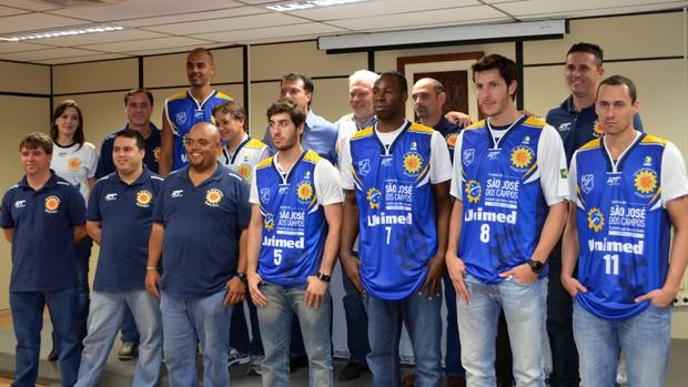 Apresentação São José Basquete (Foto: Danilo Sardinha/Globoesporte.com)