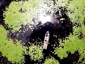 Fotos revelam os bastidores do programa 'Pantanal nordestino' (Foto: TV Globo)