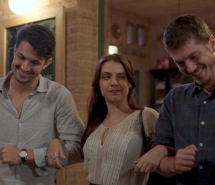 Anita é mesmo uma mulher de sorte  (Foto: TV Globo)