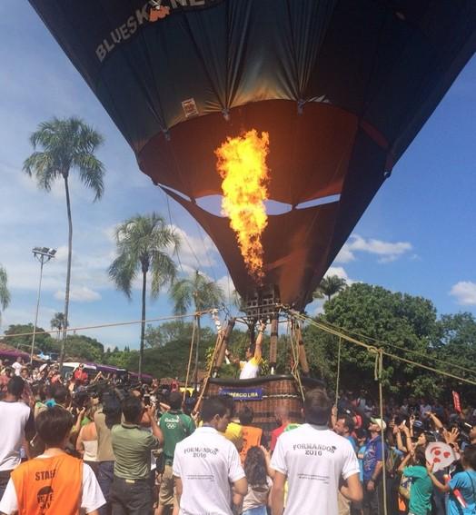 fogo e ar (Guilherme Gonçalves/ GloboEsporte.com)