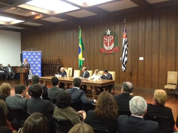 Lei foi sancionada no Palácio dos Bandeirantes (Foto: Carolina Dantas/G1)