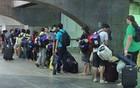 Campuseiros se despedem do evento (Gabriela Alcântara/G1)