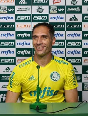Gabriel Jesus e Fernando Prass Palmeiras (Foto: César Greco / Ag. Palmeiras / Divulgação)