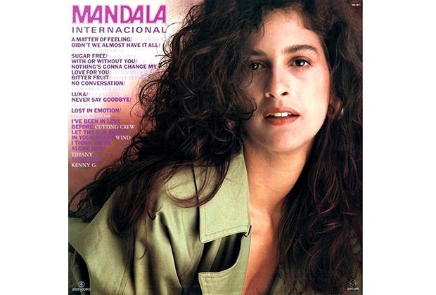 Lcia Verssimo na capa do disco Mandala Internacional (Foto: CEDOC/TV Globo)