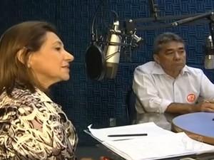 Debate entre os candidatos na rádio 94 FM (Foto: Reprodução/TV Tapajós)