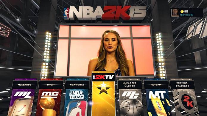 Há muitos modos em NBA 2K15 (Foto: Reprodução/Thiago Barros)