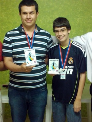 Enxadristas Renan Reis e Ronnie Stone (Foto: Divulgação FAX)