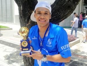 Dieguinho pivô do time do Minas de Futsal (Foto: Mauricio Paulucci / Globoesporte.com)