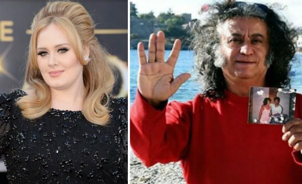 A cantora Adele e o homem que alega ser seu pai (Foto: Getty Images/Reprodução)