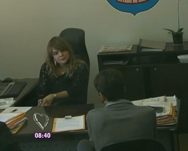 Jovem nega a acusação de divulgação dos vídeos (Foto: Mais Você/TV Globo)
