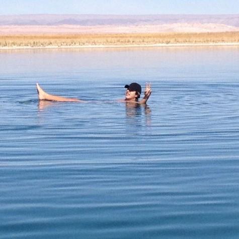 Ricky Tavares, na Laguna Cejar, no Chile (Foto: Arquivo pessoal)