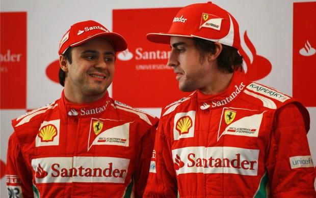 Fernando Alonso e Felipe Massa no GP da China (Foto: Getty Images)