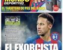 """""""O Exorcista"""": Neymar estampa jornais da Catalunha com fim da maldição do Anoeta"""