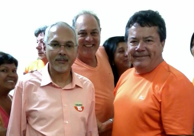 O candidato à Prefeitura de Santos, Sérgio Aquino (Foto: Mônica Basile/G1)
