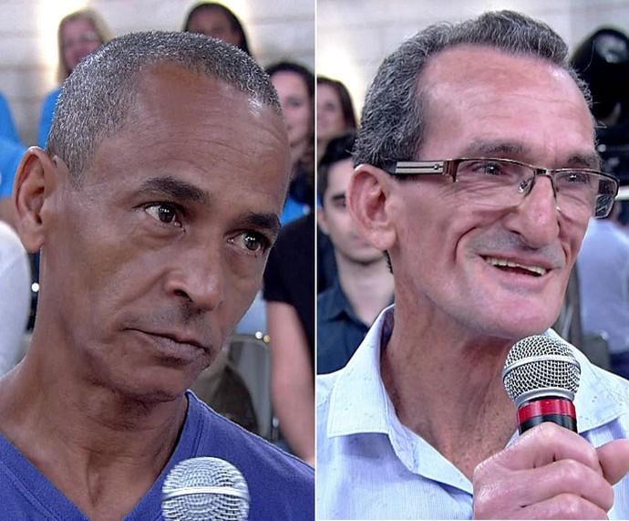 Pais de atletas: Luiz Carlos (à esq) e Wagner (à dir) (Foto: TV Globo)