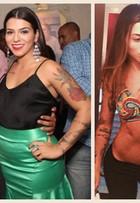 Petra Mattar mostra antes e depois, 15 quilos mais magra