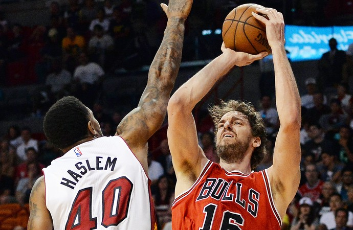 Pau Gasol, NBA, Chicago Bulls x Miami Heat, basquete (Foto: Reuters)