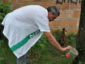 Mutirão contra a dengue no bairro Toyota, em Resende, em 2013 (Foto: Jorge Trindade/Prefeitura Resende)