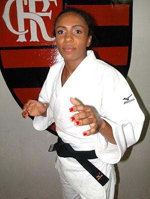 Judoca Erika Miranda fecha com o Flamengo (Foto: Zequinha Santos)