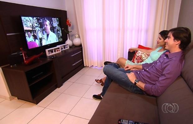 Rio Verde, Goiás, será a primeira do país a ter sinal analógico interrompido  (Foto: Reprodução/TV Anhanguera)