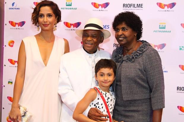 Camila Pitanga  em estreia do documentário sobre Antônio Pitanga no Festival do Rio (Foto: Anderson Borde/AgNews)