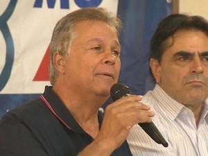 Rômulo Viegas, candidato do PSDB à Prefeitura de São João del Rei (Foto: Reprodução/TV Integração)