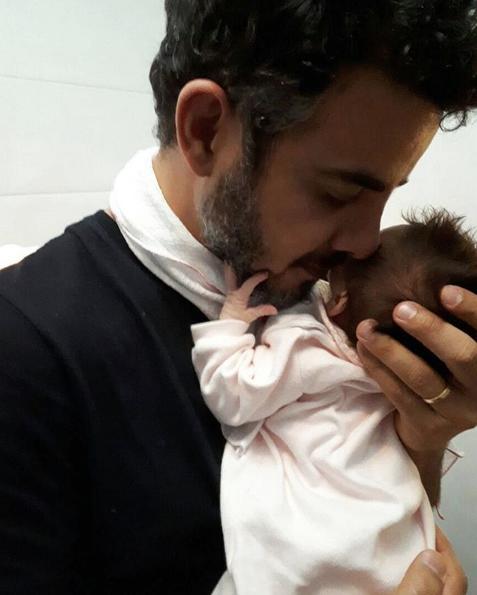 Anderson Di Rizzi com a filha, Helena (Foto: Reprodução)