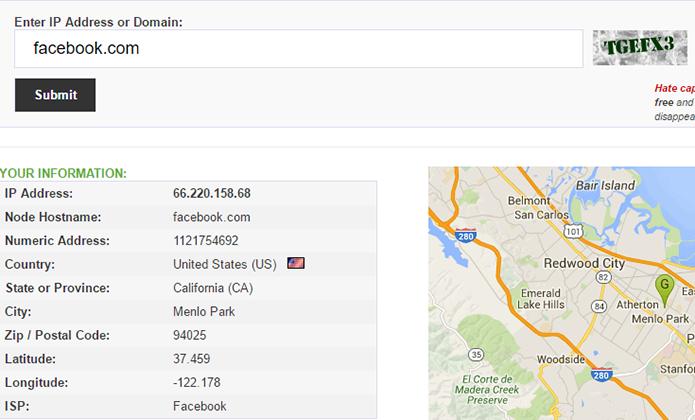 Get IP também mostra localização do IP no mapa (Foto: Reprodução/Paulo Alves)