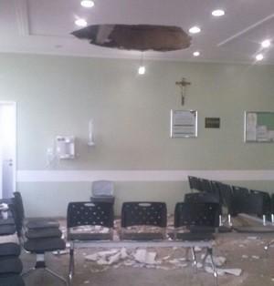 amapá macapá teto são camilo vazamento hospital  (Foto: Iranete Lacerda/Arquivo Pessoal)