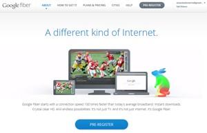 Site do Google Fiber (Foto: Reprodução)
